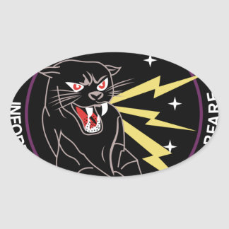 Panther Den Information Warfare Oval Stickers