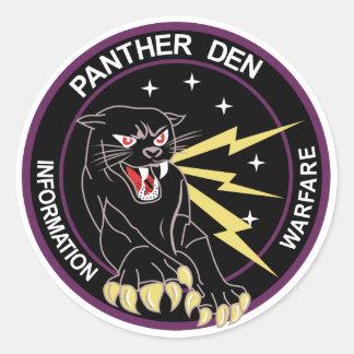 Panther Den Information Warfare Round Sticker