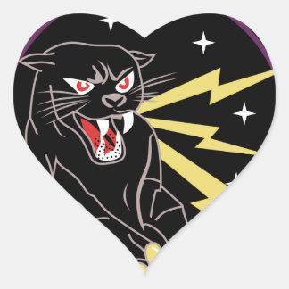 Panther Den Information Warfare Heart Stickers