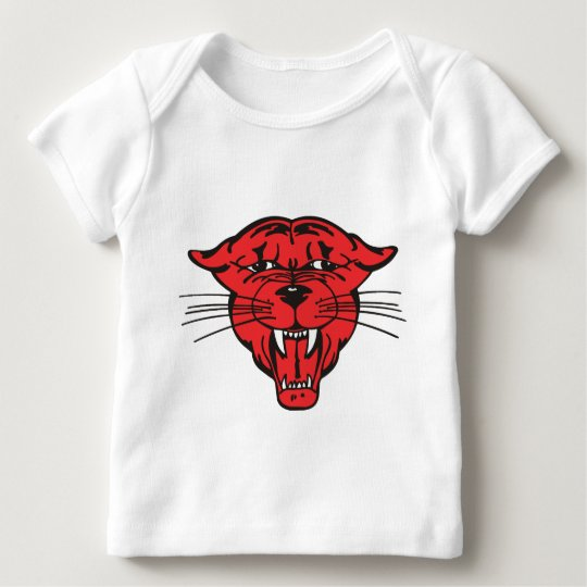 PANTHER FACE, red 01 Baby T-Shirt
