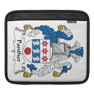 Panther Family Crest iPad Sleeves