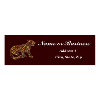 Panther Faux Jeweled Mini Business Card