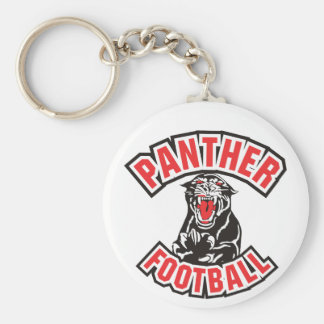 PANTHER FOOTBALL red Keychain