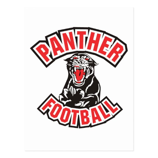 PANTHER FOOTBALL red Postcard