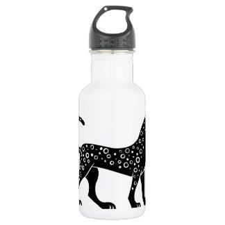 Panther, Greek relief design 18oz Water Bottle