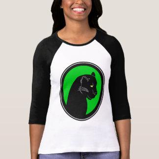 Panther Green Cameo Ladies Raglan T-Shirt