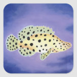 Panther Grouper Square Stickers