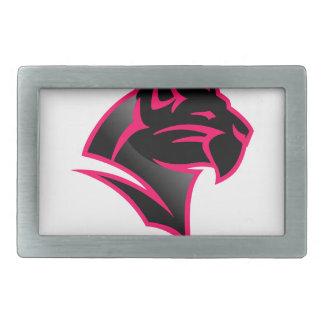 Panther Head Rectangular Belt Buckles
