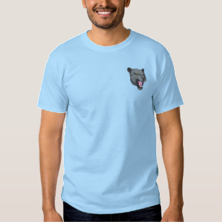 Panther Head Embroidered T-Shirt