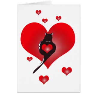Panther Heart Valentine Card