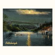 Panther Hollow Lake Vintage Postcard
