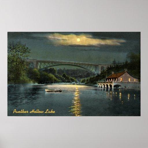 Panther Hollow Lake Vintage Poster