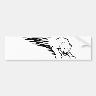 Panther in Flames Bumper Sticker