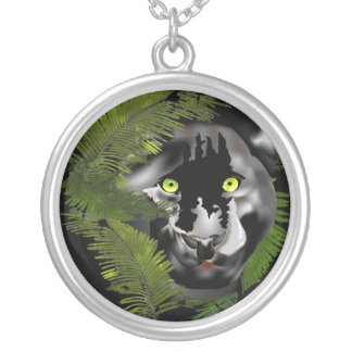 Panther in Foliage. Custom Jewelry