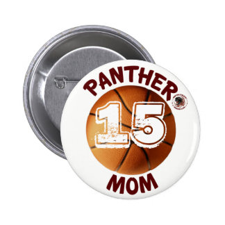 Panther Mom Basketball Button sponsored by BABC