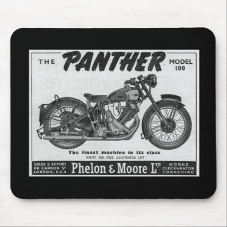 panther motorcycle advert mouse pad