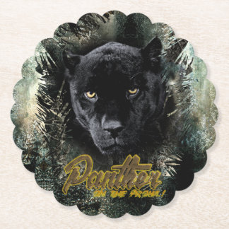 """""""Panther on the Prowl"""" Paper Coaster"""