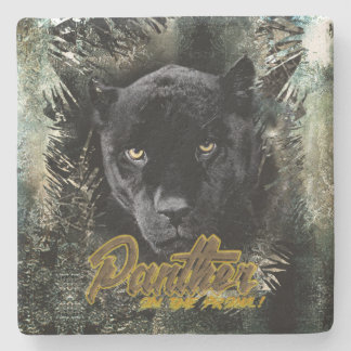 """""""Panther on the Prowl"""" Stone Coaster"""