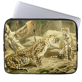 Panther Painting Leopard Wild Cat Wildlife Art Computer Sleeve