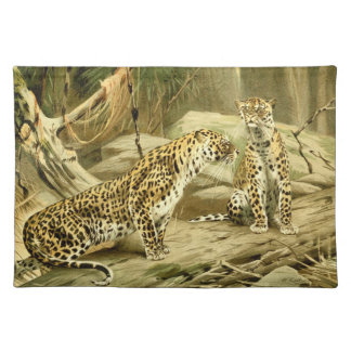 Panther Painting Leopard Wild Cat Wildlife Art Placemat