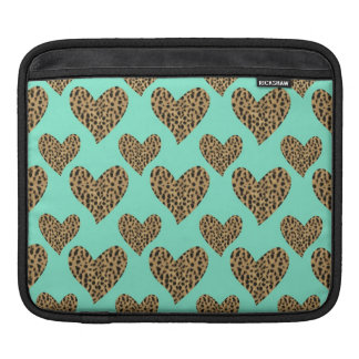 Panther Pattern Hearts Sleeve For iPads