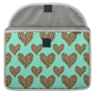 Panther Pattern Hearts Sleeves For MacBook Pro