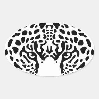 panther.png pegatina ovalada