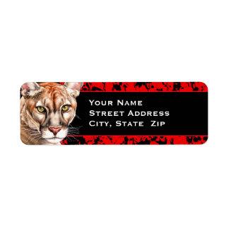 Panther Portrait Label