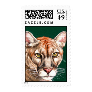 Panther Portrait Stamp