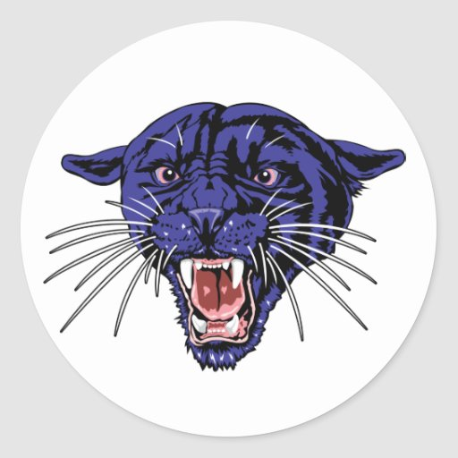 Panther Roar Classic Round Sticker