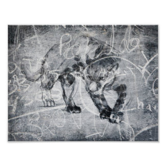 Panther Scratch Big Cat Fine Art Graphics Poster