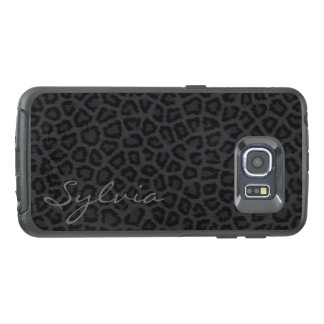 Panther Spots with Name OtterBox Samsung Galaxy S6 Edge Case