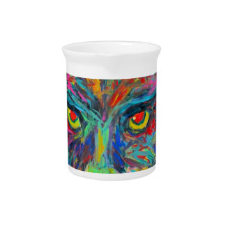 Panther Stare Beverage Pitcher