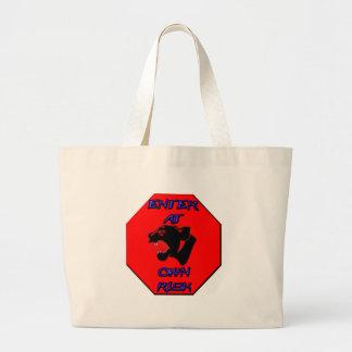 Panther Stop Sign Bag