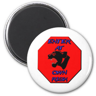 Panther Stop Sign Magnet