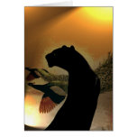 Panther Sunset Blank Card