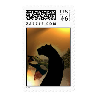 Panther Sunset Postage