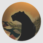Panther Sunset Sticker