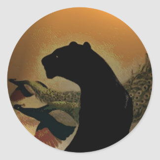 Panther Sunset Sticker