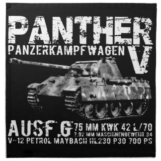 Panther Tank Cloth Napkin