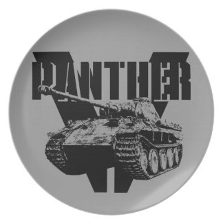 Panther Tank Melamine Plate