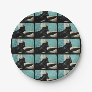 Panther with Piercing Eyes 7 Inch Paper Plate