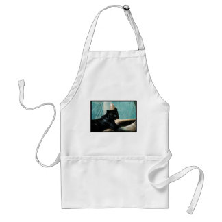 Panther with Piercing Eyes Adult Apron