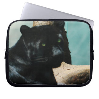 Panther with Piercing Eyes Laptop Sleeves
