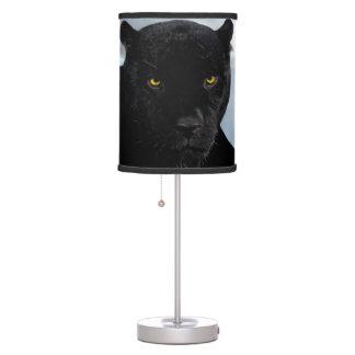 Panthera de la pantera negra lámpara de mesilla de noche