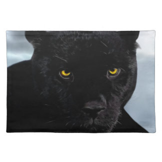 Panthera de la pantera negra mantel individual