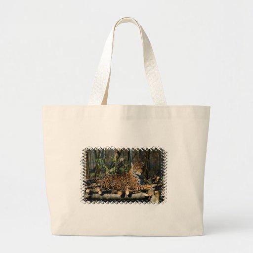 Panthera Jaguar Canvas Tote Bag