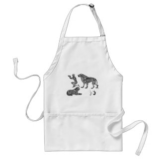 Panthera Leo - Skeleton Lions In Repose Adult Apron