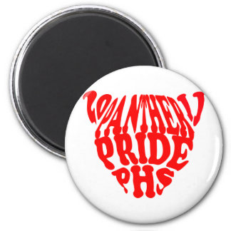 panthers 2 inch round magnet
