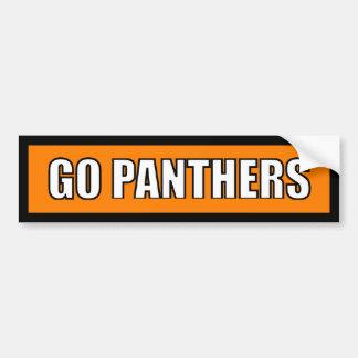 Panthers - Black Orange White Bumper Sticker